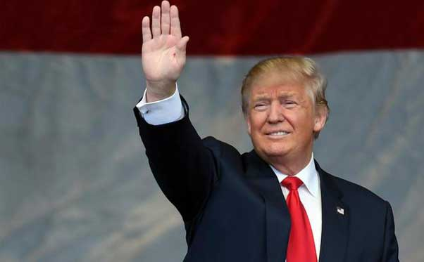 il presidente degli Stati Uniti di America Donald Trump